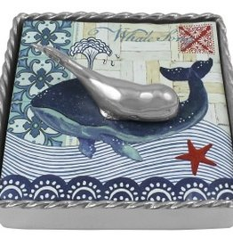 Mariposa Whale Twist Cocktail Napkin Box