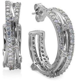 Crislu Entwined Platinum and CZ Earrings - 2.50 Carat