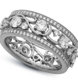 Crislu Vine Ring - Platinum - Size 7