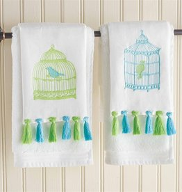 Bird Cage Fingertip Towel - Set of 2