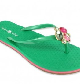 Lindsay Phillips Kelli Flip Flop - Watermelon Green - Size 7