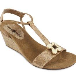 Lindsay Phillips Megan Platform Wedge Sandal - Gold - Size 8