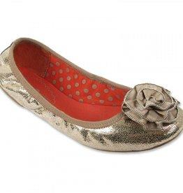 Lindsay Phillips Liz Ballet Flat - Crackle Metallic - Size 8