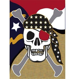 Burlap Skull Flag - Large