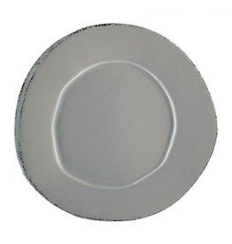 "Vietri Lastra European Dinner Plate - Gray - 10.5"""