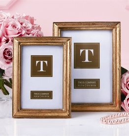 Set of 2 Gold Leaf Photo Frames