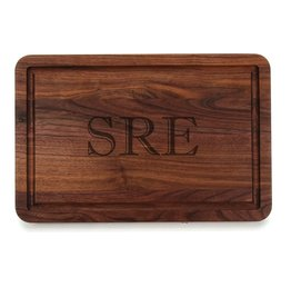 "Wiltshire Rectangle Cutting Board - Walnut - 15""x24"" - Personalized"
