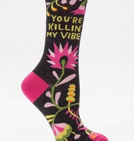 Killin' My Vibe Crew Socks