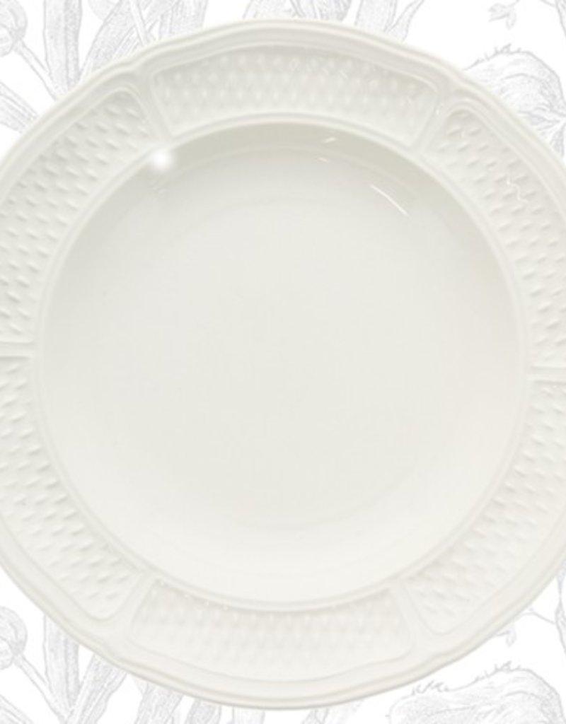 Gien Pont Aux Choux Rim Soup Bowl - White