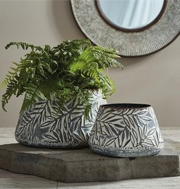 Stamped Metal Vase - Large