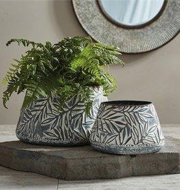 Stamped Metal Vase - Small