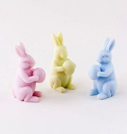 Pastel Bunny with Easter Egg Candle