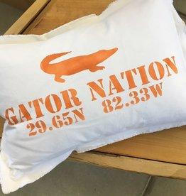 """Large Rectangle Pillow 18""""x25"""" - Gator Nation GPS"""