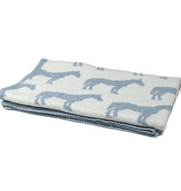 In2Green Eco Baby Pony Throw - Blue Pond