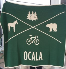 In2Green Ocala X Throw Blanket - Hunter & Flax