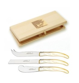 "Claude Dozorme Berlingot Breakfast Knife Set - Grey Handle 7.5""L to 9""L"