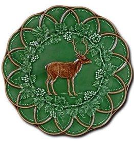 "CE Corey Bordallo Scalloped Deer Plate - 9"""