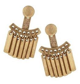 Metal Fringe Ear Jackets - Gold