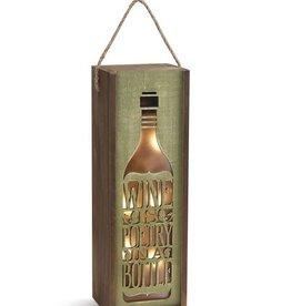 Wine is Poetry Lantern