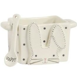 White Bunny Candy Caddy Set