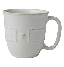 Juliska Berry and Thread French Panel Coffee/Tea Cup - Whitewash
