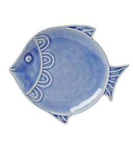 Juliska Berry and Thread Sea Life Fish Dessert/Salad Plate - Delft Blue