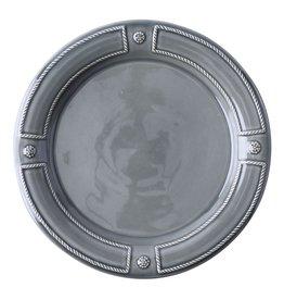 Juliska Berry & Thread French Panel Dinner Plate - Stone Grey