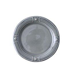 Juliska Berry & Thread French Panel Side Plate - Stone Grey
