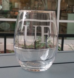 UF Engraved Stemless Wine Glass - Set of 4