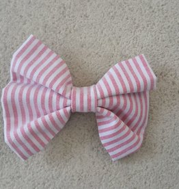 Hot Dog Bowtie - Red & White Stripe Searsucker - Large