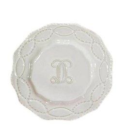 Skyros Legado Engraved Salad Plate - White