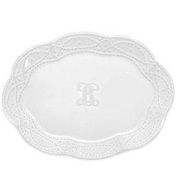 Skyros Legado Engraved Platter - White
