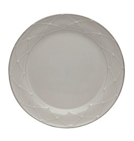 Casafina Meridian Round Decorated Salad Plate - White