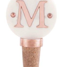 M Initial Copper Bottle Stopper