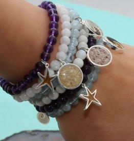 Dune Jewelry Moonstone Gemstone Bead Bracelet - Crescent Beach