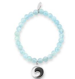 Dune Jewelry Wave Aquamarine Gemstone Bead Bracelet - St Augustine