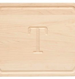 Scalloped Edge Cutting Board - 12x18 Maple w/ Handles - Personalized