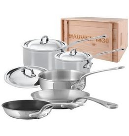 Mauviel 1830 M'cook 8 Piece Cookware Set - Stainless Steel in Crate