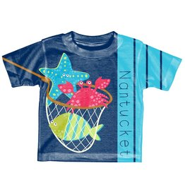 Lakeshirts Blue 84 Toddler Sublimated Tee Jambalaya Sea Critters