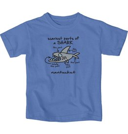 Lakeshirts Blue 84 Youth Tee Scary Parts Shark