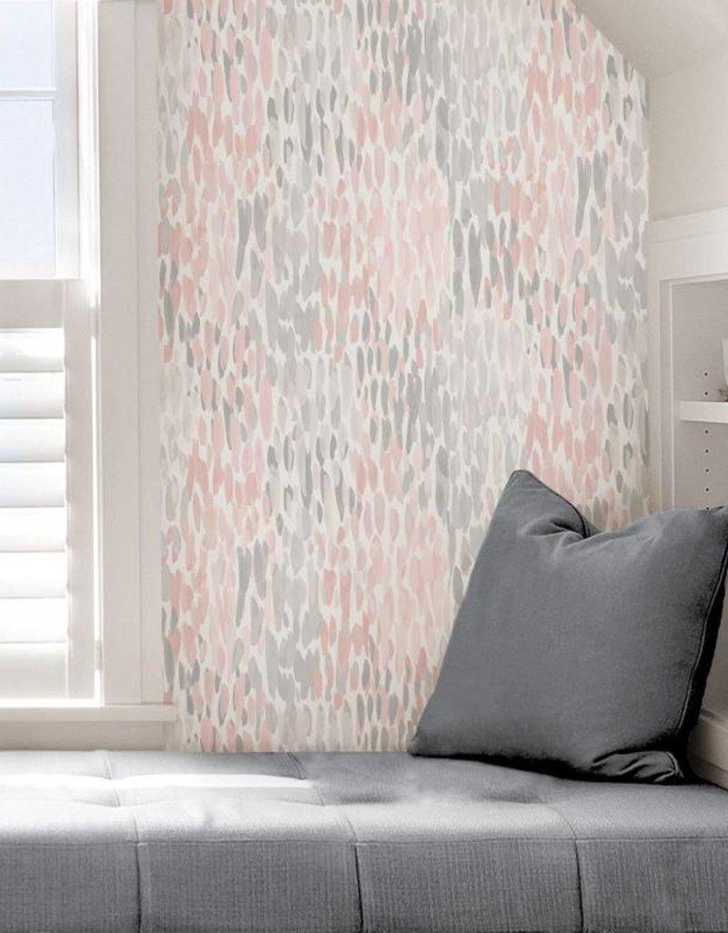 Blush Make It Rain Peel Stick Wallpaper
